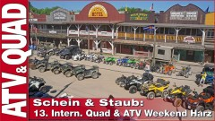 Galerie: 13. Intern. Quad & ATV Weekend Harz - Schein & Staub