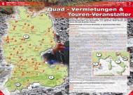 ATV&QUAD Magazin 2012/03, Seite 6-7: Quad-Vermietungen & Touren-Veranstalter