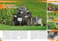 ATV&QUAD Magazin 2012/03, Seite 38-39, Einsatz auf dem Weingut Schneckenhof: Im Dienst der Königin