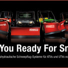 Boss Products: elektrohydraulische Schneepflüge für ATVs und kleine UTVs