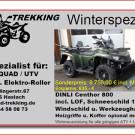Quad Trekking auf dem BEHA Forsttag 2014: Dinli Centhor 800L EFI 'Winter-Edition' mit Schnee- und Windschild sowie Werkzeugträger im Gepäck