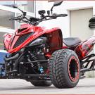 Exeet V990R: basiert auf der Yamaha YFM 700 Raptor, die mit dem LC8-Triebwerk einer KTM Superduke 990 ausgerüstet ist