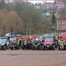Weihnachtsgaudi 2014 in Rhula: 38 weihnachtlich kostümierte Fahrer im Reigen des Quad-Umzugs
