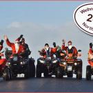 North Quads, Weihnachts Aktion 2014: Andreas, Harald, dahinter Christa und Torsten, dahinter fliegende Holländer Martijn, Rainer und Johann