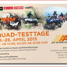 Quad Testtage 2015 bei ATV Action Arbon: Probefahrten, ein Fotoshooting und ein grosses Feierabendbier stehen auf dem Programm der ATV Testtage 2015 vom 24. bis 26. April