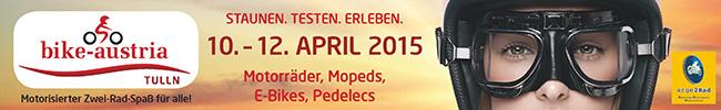 Messe Tulln, bike-austria 2015 - Superbanner