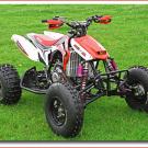Rennsport-Quad von CRQF:Für ordentlich Vortrieb sorgt der Honda CRF 450 R Motor mit 449,7 Kubik