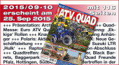 ATV&QUAD Magazin 2015/09-10: ab 25. September am Kiosk