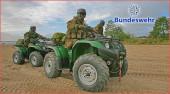 Yamaha Grizzly 450 im Bundeswehr Einsatz: Vor allem bei den Spezialeinheiten der Deutschen Bundeswehr wird das ATV sehr geschätzt; sie erleichtert die Arbeit