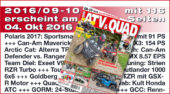 ATV&QUAD Magazin 2016/09-10: erscheint am 04. Oktober 2016