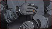 Rukka Thermo Handschuh Harros GTX: Elastisches Textilgewebe sorgt für guten Sitz, hochwertiges Leder für Schutz