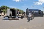 Abmarsch: Die Fahrzeuge haben ihre Heimreise bereits am Sonntag angetreten