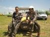 Entspannen nach der Rallye: Stefan Schneider und Rainer Terhag