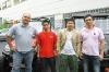 Das Hisun Vertriebs-Team in Hanau: Sven Windirsch (Händler-Betreuung), Zhenglong Then (Lager / Technik), Hua Chen (Geschäftsleitung) und Jens Yu (Marketing)