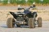 Quad-Paradies, Yamaha YFM 700 Raptor Turbo: starkes Raptor-Heck mit gewaltigem Schalldämpfer