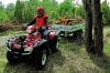 Wenn der Schnee weg ist: Hondas ATV kann auch Holzarbeiten