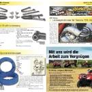 ATV&QUAD Magazin 2011/07-08, Seite 20-21, Aktuell: News & Trends  Omnicompetition: A-Arms mit Straßenzulassung und Polyamid Spurverbreiterungen  ABP Racing: Leistungskrümmer für Yamaha YFM 700 Raptor
