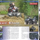 ATV&QUAD Magazin 2011/07-08, Seite 26-27,  Präsentation Kymco MXU 500 4x4 IRS DX LoF: Mit zwei Sitzen