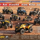 ATV&QUAD Magazin 2011/07-08, Seite 28-37,  Präsentation Can-Am Modelle 2012: Can-Am macht das Kilo voll