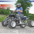 ATV&QUAD Magazin 2011/07-08, Seite 56-61,  Umbau Engelhardt Banshee 600 Fazer: Vier statt zwei