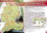 ATV&QUAD Magazin 2011/09-10, Seite 6-7, Aktuell: Erlebnis Quadvermietungen und Tourenveranstalter