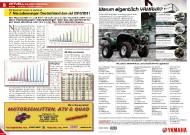 ATV&QUAD Magazin 2011/09-10, Seite 8-9, Aktuell: Zulassungszahlen VKP und LoF-Zugmaschinen Neuzulassungen Deutschland Januar-Juli 2010 / 2011