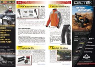 ATV&QUAD Magazin 2011/09-10, Seite 14-15, Aktuell: News & Trends  RMX Racing: FOX Upgrade-Kits für RZR Speeds: Heizhandgriffe Klim: Enduro-Bekleidung Quadix: Zubehör für Jäger