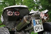 Mussgnug KFX 700, Heck: Kreuz-Leuchten und Krieger-Doppelauspuff