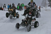 Internationales Winter-MotoCross 2012 in Gosau: Dreifach-Sprung für Sportquads und ATVs