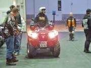 Q Team Nord auf den Hamburger Motorrad Tagen HMT 2012: Quadhändler Stefan Blank ('Jump ´n Ride') zeigt, dass in einem Sani-ATV mehr steckt als ein Arbeitstier...