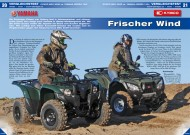 ATV&QUAD Magazin 2012/03, Seite 20-21, Vergleichstest Kymco MXU 300R vs. Yamaha Grizzly 300: Frischer Wind