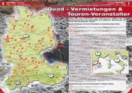 ATV&QUAD Magazin 2012/04, Seite 6-7: Quad-Vermietungen & Touren-Veranstalter