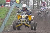 EMX European Quad Challenge 2012, 2. Rennen in Oldebroek, Sieg im zweiten Lauf:  Warnia (62) vor Couprie (1)