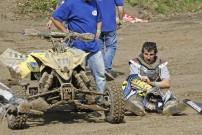 DMX 2012, 2. Rennen in Kamp Lintfort: David Tusl setzt das Rennen nach harter Landung fort