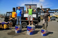 European Endurance Day 2012, Podium Ironman-Klasse: Sandy Schulze vor Heiko Uhlich und Jascha Hoppe