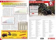 ATV&QUAD Magazin 2012/06, Seite 8-9: Neuzulassungen Deutschland Januar bis Mai 2011 / 2012