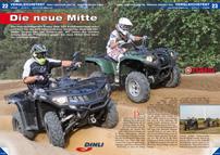 ATV&QUAD Magazin 2012/09-10, Seite 22-29, Vergleichstest Dinli Centhor 565 v.s. Yamaha Grizzly 550: Die neue Mitte