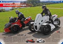 ATV&QUAD Magazin 2012/09-10, Seite 30-37, Fahrbericht Can-Am Spyder v.s. GG Taurus: Glaubensfrage