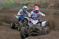 Team EM 2012 in Oss / NL: Romain Couprie (19) vor Paul Holmes (43)