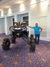Can-Am Händler-Meeting 'Club BRP 2013' in Washington / Harbor: MudRacer-Umbau, für dessen 'Ersteigung' eine Leiter angemessen ist