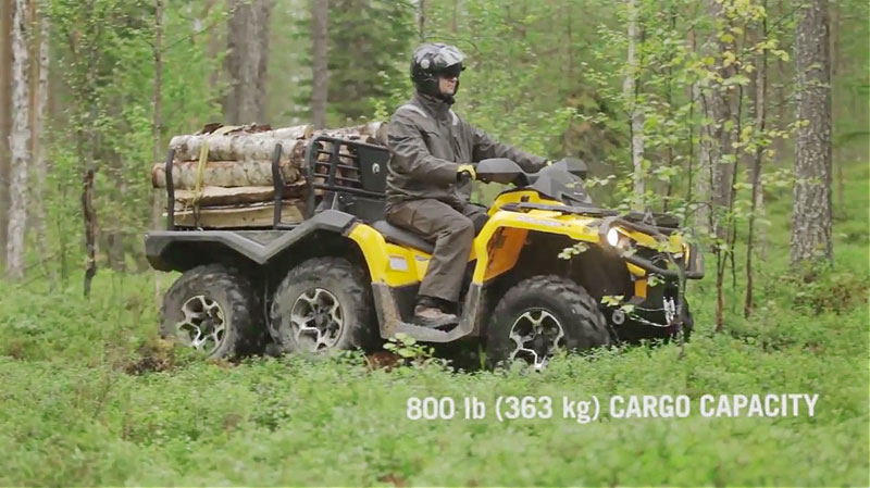 can am outlander 6 6 an die arbeit atv quad magazin. Black Bedroom Furniture Sets. Home Design Ideas
