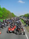 Quadkelten, 1. Keltentreffen vom 28. April bis 2. Mai 2012, Ausfahrt: zum Biker-Auftakt nach Nürnberg