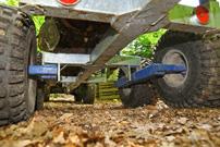Holzrückewagen: ungebremst, mit Pendel-Achse