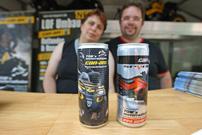 Nadine Eppel und Thomas Bolzmacher: bieten Energy-Drinks mit Eigen-Labels