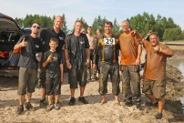 Mudfest-Team: nicht ganz sauber