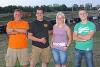 Schlammschlacht in Ludwigslust: Arne Langfeld, Rudie Denissen und Josi Busse und Denny Wolter freuen sich bereits auf rund 100 Teilnehmer