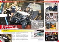 ATV&QUAD Magazin 2013/01-02, Seite 18-19, Messegeflüster EICMA 2012: Charmante Präsentation; CF Moto: Weltpremiere Tracker 800