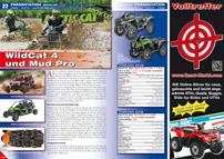 ATV&QUAD Magazin 2013/01-02, Seite 22-23, Präsentation: Arctic Cat WildCat 4 und Mud Pro