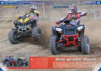 ATV&QUAD Magazin 2013/01-02, Seite 24-31, Fahrbericht Polaris Scrambler XP 850 vs. Can-Am Renegade 1000 Xxc: Das große Duell