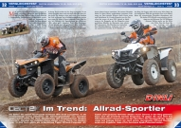 ATV&QUAD Magazin 2013/01-02, Seite 32-39, Verglechstest Cectek KingCobra T5 ix vs. Dinli EVO 565: Allrad-Sportler im Trend